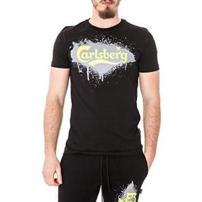 CARLSBERG - T-shirt uomo stampata regular fit cbu2589 xl nero