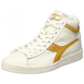Diadora Game L High Waxed, Sneaker a Collo Alto Unisex – Adulto, Bianco (Bianco/Beige Farro), 45 EU