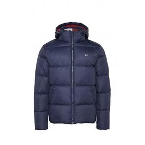 Tommy Hilfiger Tjm Essential Hood Puffa Jacket Giacca, Blu (Black Iris Cbk), Medium Uomo