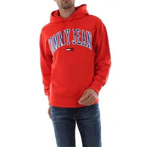 Tommy Jeans DM0DM06320 Clean Collegiate Felpa Donna Red M