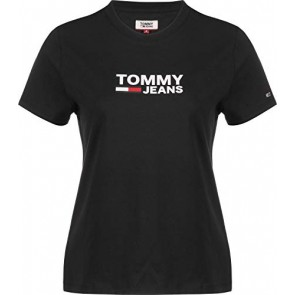 Tommy Jeans Donna Corp Logo Tee T-shirt Nero (Tommy Black Bbu) Small