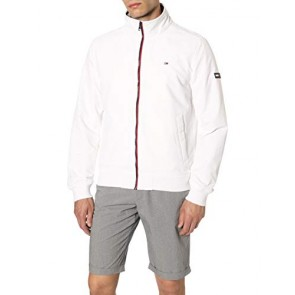 Tommy Jeans Tjm Essential Casual Bomber, Bianco (Classic White 100), S Uomo