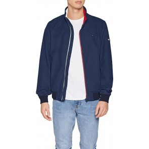 Tommy Jeans Uomo ESSENTIAL CASUAL BOMBER Bomber Maniche lunghe Blu (Black Iris 002) Small