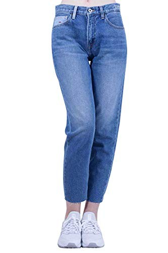 Tommy Jeans Donna High Rise Slim Izzy Jeans straight Blu (Aud Lt Bl Com Ds 911) W28/L32 (Taglia Produttore: 3228)