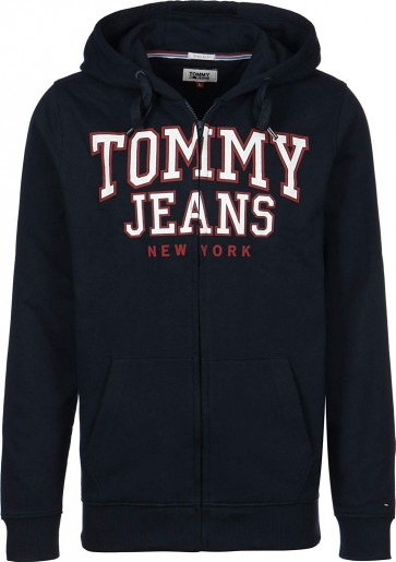 Tommy Jeans Essential Graphic Felpa con zip black iris