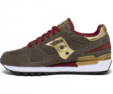 Saucony Originals Shadow Sneakers Donna Crocodile Gold 38