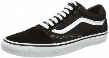 Vans Old Skool Leather Sneakers basse Unisex Adulto, Nero (Black/White)
