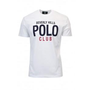 BEVERLY HILLS POLO CLUB T-SHIRT MANICA CORTA UOMO JERSEY BHPC3883 xxl bianco