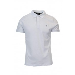 BEVERLY HILLS POLO CLUB T-Shirt Uomo Polo in piquet BHPC3800 Regular XL Bianco