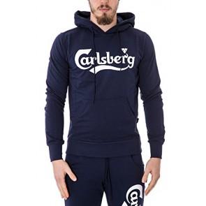 CARLSBERG - Felpa uomo con cappuccio regular fit cbu2500 s blu
