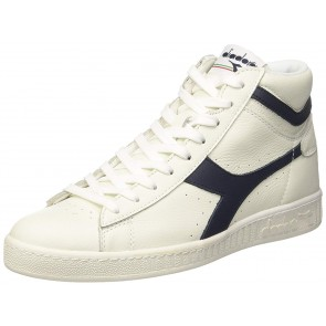Diadora Game L High, Sneaker a Collo Alto Uomo, Blu Mar Caspio/Bianco, 41 EU
