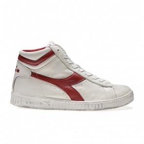 Diadora Game L High Waxed, Sneaker a Collo Alto Unisex – Adulto, Bianco (C5147 Bianco/Rosso Peperone), 42 EU