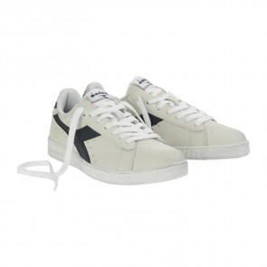 Diadora Game L Low Waxed, Scarpe  Low-Top Unisex – Adulto, Bianco (Bianco/Blu Mar Caspio), 46 EU