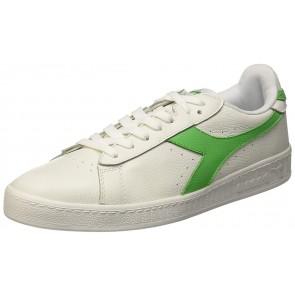 Diadora Game L Low Waxed, Scarpe  Low-Top Unisex – Adulto, Bianco (Bianco/Verde Irlandese), 45 EU