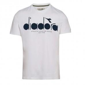Diadora Sport–T-Shirt da Uomo 502161924SS BL, Uomo, 502161924, Bianco Ottico, XL