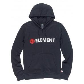 Element Uomo Blazin Felpa con Cappuccio/ Zip Hoodie Größe: S Farbe: Flint Black