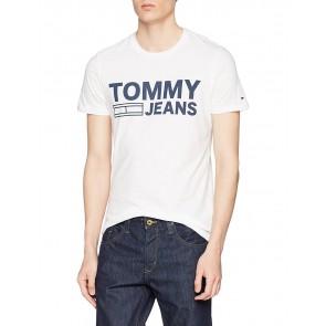 Hilfiger Denim TJM BASIC CN T-SHIRT S/S 37, T-Shirt Uomo, Bianco (Classic White 100), XX-Large