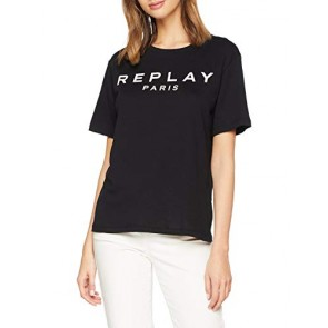 REPLAY W3141l.000.20994 T-Shirt, Nero (Black 98), X-Small Donna