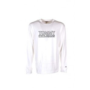 Tommy Hilfiger Tjm Contoured Corp Sleeve Tee Camicia, Bianco (Classic White 100), Medium Uomo