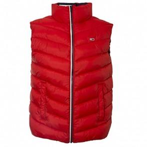 Tommy Hilfiger Tjm Essential Puffer Vest Gilet da Esterno, Rosso (Flame Scarlet 667), Small Uomo