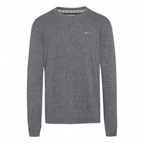 Tommy Hilfiger Tjm Essential Textured Sweater Felpa, (Dk Grey Twisted P02), Large Uomo