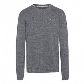 Tommy Hilfiger Tjm Essential Textured Sweater Felpa, (Dk Grey Twisted P02), Small Uomo