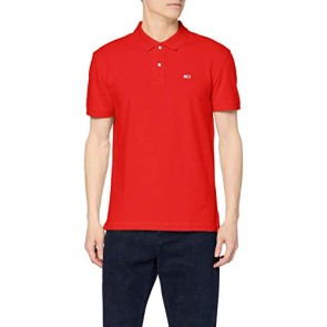 Tommy Hilfiger Tjm Tommy Classics Solid Polo, Rosso (Flame Scarlet 667), Small Uomo