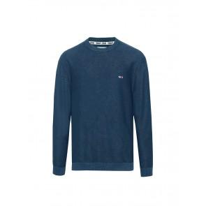 Tommy Hilfiger Tjm Washed Sweater Felpa, Blu (Black Iris 002), X-Small Uomo