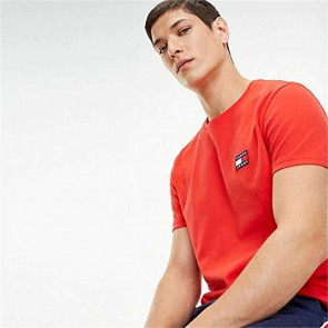 Tommy Jeans DM0DM06595 Badge Tee T-Shirt E Canotte Uomo Red XS