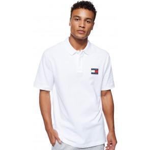 Tommy Jeans DM0DM07456 Badge Polo Polo Uomo White XXL