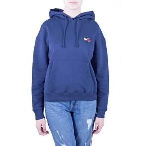 Tommy Jeans Donna - Felpa Oversize in Cotone Blu - Taglia XS