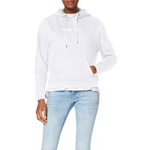 Tommy Jeans Donna Metallic Logo Hoodie Cardigan Bianco (Classic White Ya2) XX-Small