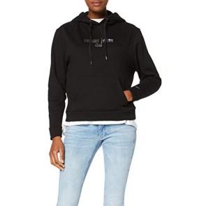 Tommy Jeans Donna Metallic Logo Hoodie Cardigan Nero (Tommy Black Bbu) X-Small