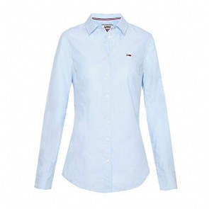 Tommy Jeans Donna Slim Fit Oxford Shirt Camicia sportiva Blu (Serenity 400) X-Small
