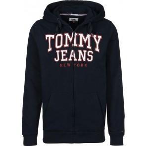 Tommy Jeans Essential Graphic Felpa con zip black iris