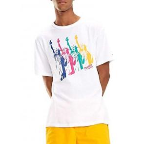 Tommy Jeans T-Shirt New York White Man L Bianco