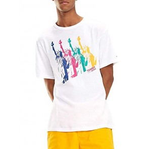 Tommy Jeans T-Shirt New York White Man S Bianco