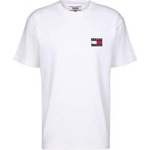 Tommy Jeans - T-Shirt Uomo Bianca con Badge Logo - Taglia XS