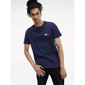 Tommy Jeans - T-Shirt Uomo Blu con Badge Logo - Taglia XS