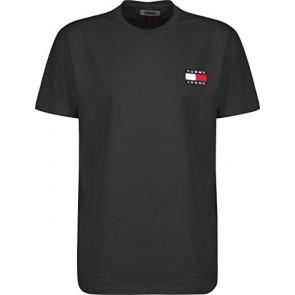 Tommy Jeans - T-Shirt Uomo Nera con Badge Logo - Taglia XS