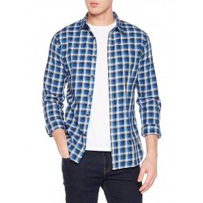 Tommy_Jeans Tjm Essential Washed Check Shirt, Camicia Uomo, Blu (Nautical Blue 407), Medium