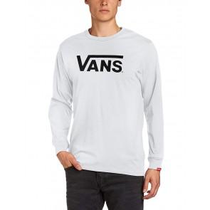 Vans Classic LS, Maglietta Uomo, Bianco (White/Black), Medium