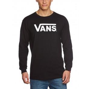 Vans Classic LS, Maglietta Uomo, Nero (Black/White), X-Small
