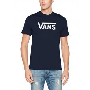 Vans Classic, Maglietta Uomo, Blu (Navy/White), Medium