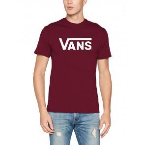 Vans Classic, Maglietta Uomo, Rosso (Burgundy/White), X-Small