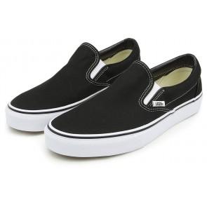 Vans Classic Slip-On Canvas, Sneaker Unisex - Adulto, Nero (Black Shoe White Sole), 41 EU (7.5 UK)