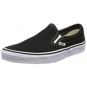 Vans Classic Slip-On Canvas, Sneaker a Collo Basso Unisex – Adulto, Nero (Black Shoe White Sole), 36 EU (3.5 UK)