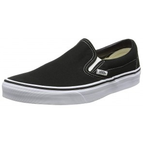 Vans Classic Slip-On Canvas, Sneaker a Collo Basso Unisex – Adulto, Nero (Black Shoe White Sole), 37 EU (4.5 UK)