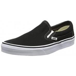 Vans Classic Slip-On Canvas, Sneaker a Collo Basso Unisex – Adulto, Nero (Black Shoe White Sole), 38 EU (5 UK)