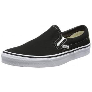 Vans Classic Slip-On Canvas, Sneaker a Collo Basso Unisex – Adulto, Nero (Black Shoe White Sole), 44 EU (9.5 UK)